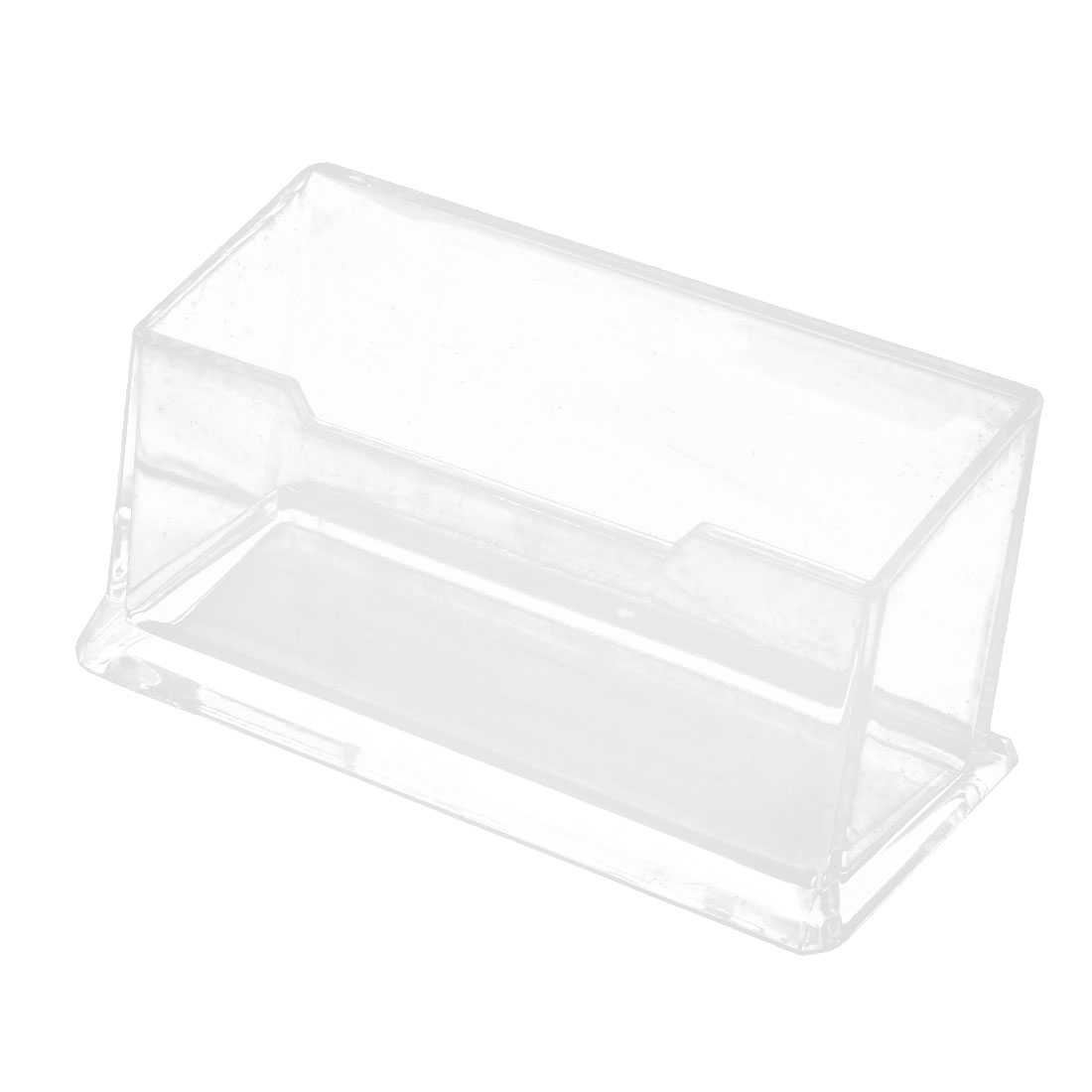 Clear Hard Plastic Office Desk Name Card Holder Case