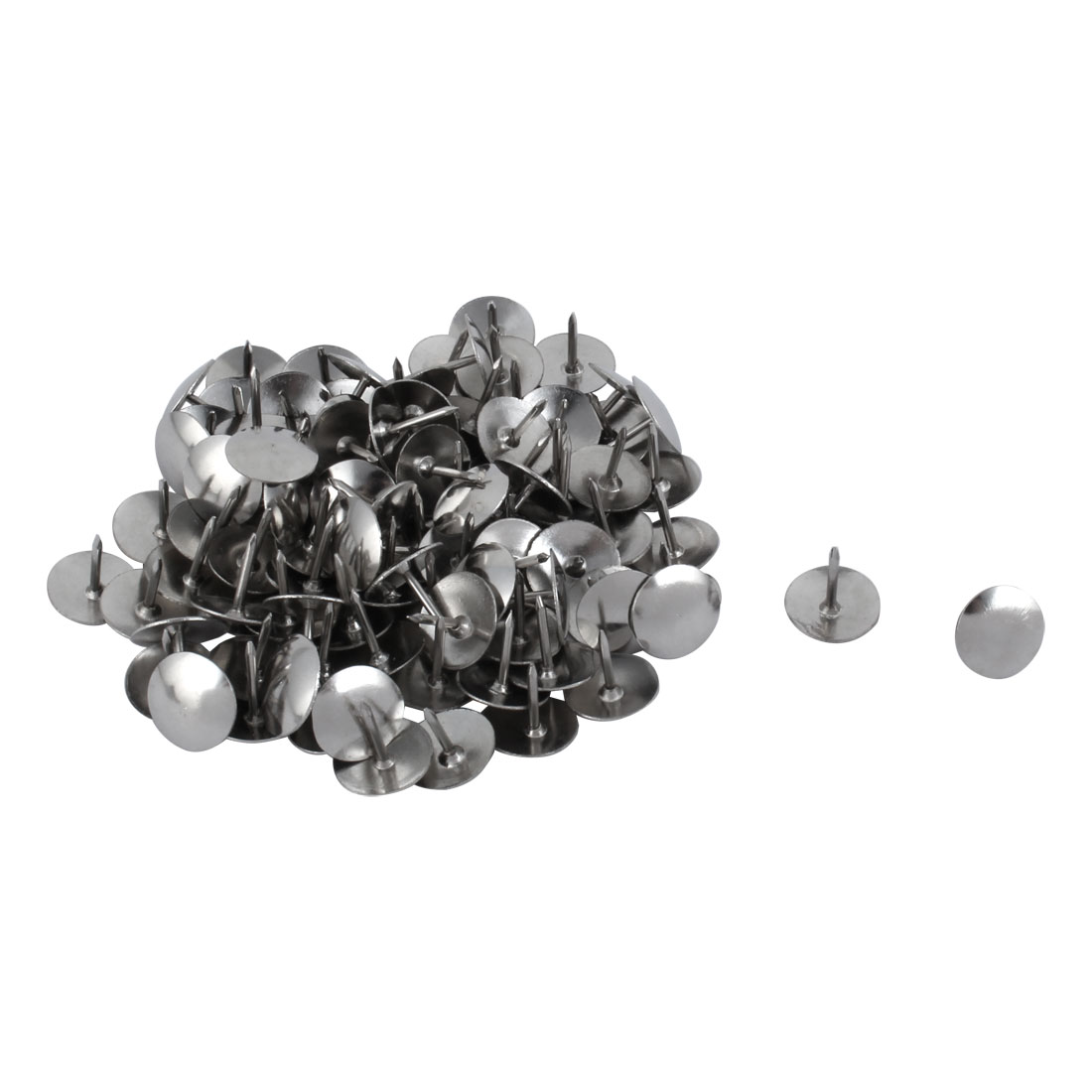 91PCS Silver Tone Metal Notice Board Desk Thumb Tacks Pins