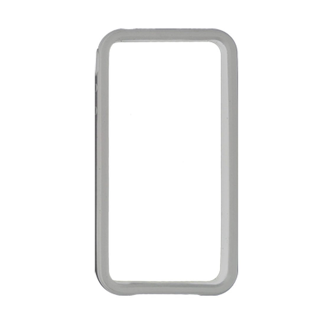 Soft Plastic White Bumper Side Frame Cover Protector for iPhone 4