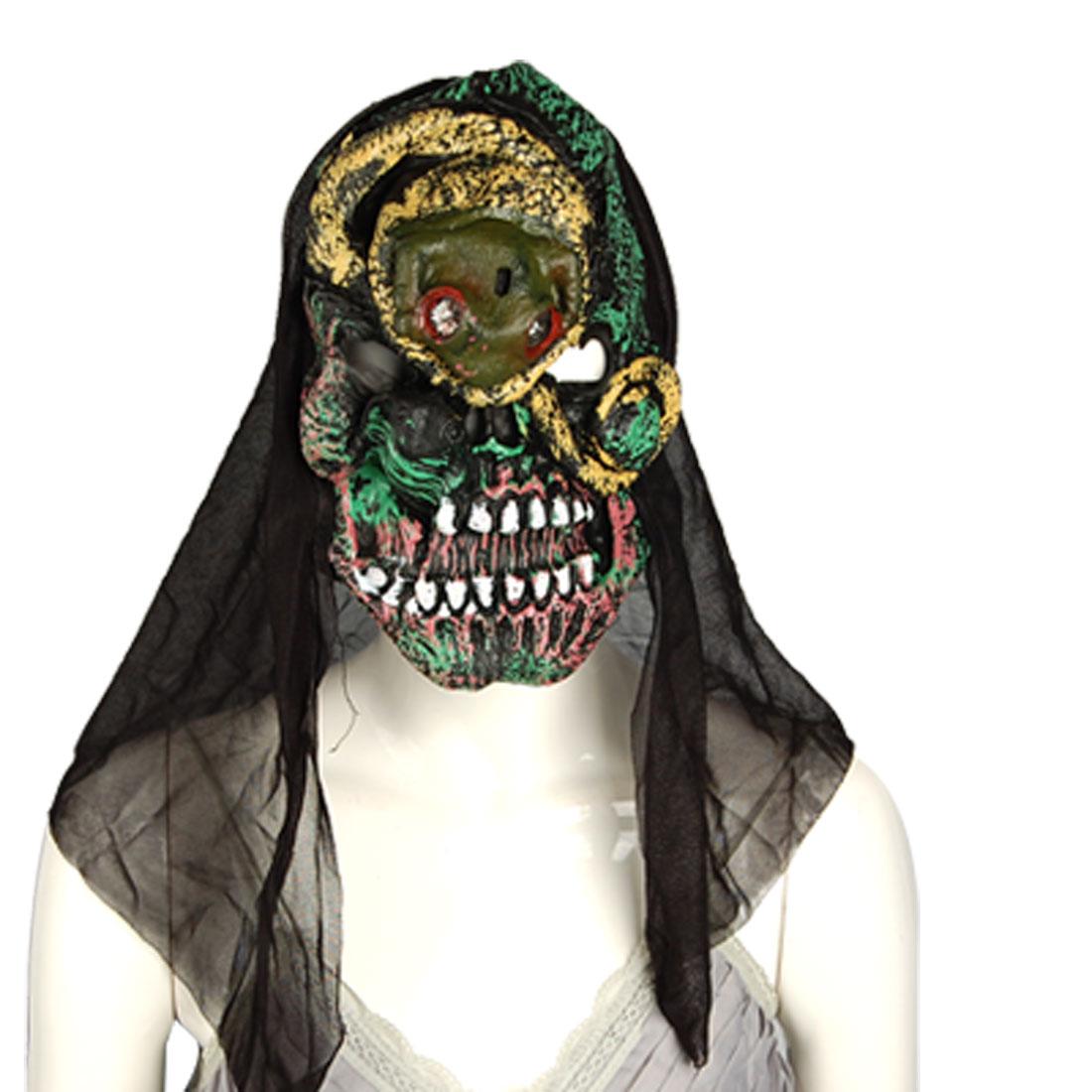 Snake Forehead Big Teeth Halloween Horrible Sound Mask