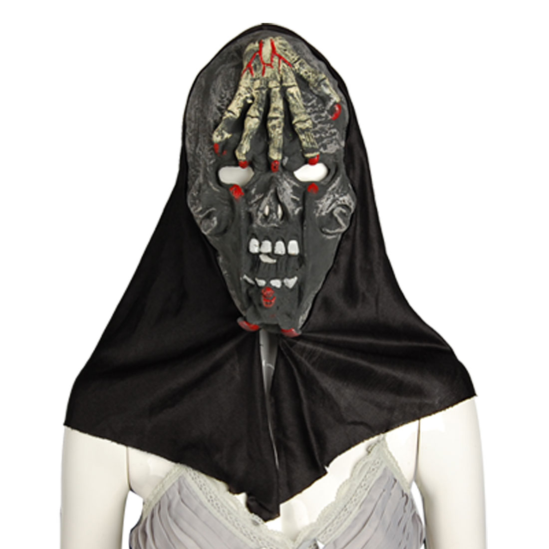 Horrible Skull Hand Forehead Halloween Hood Mask