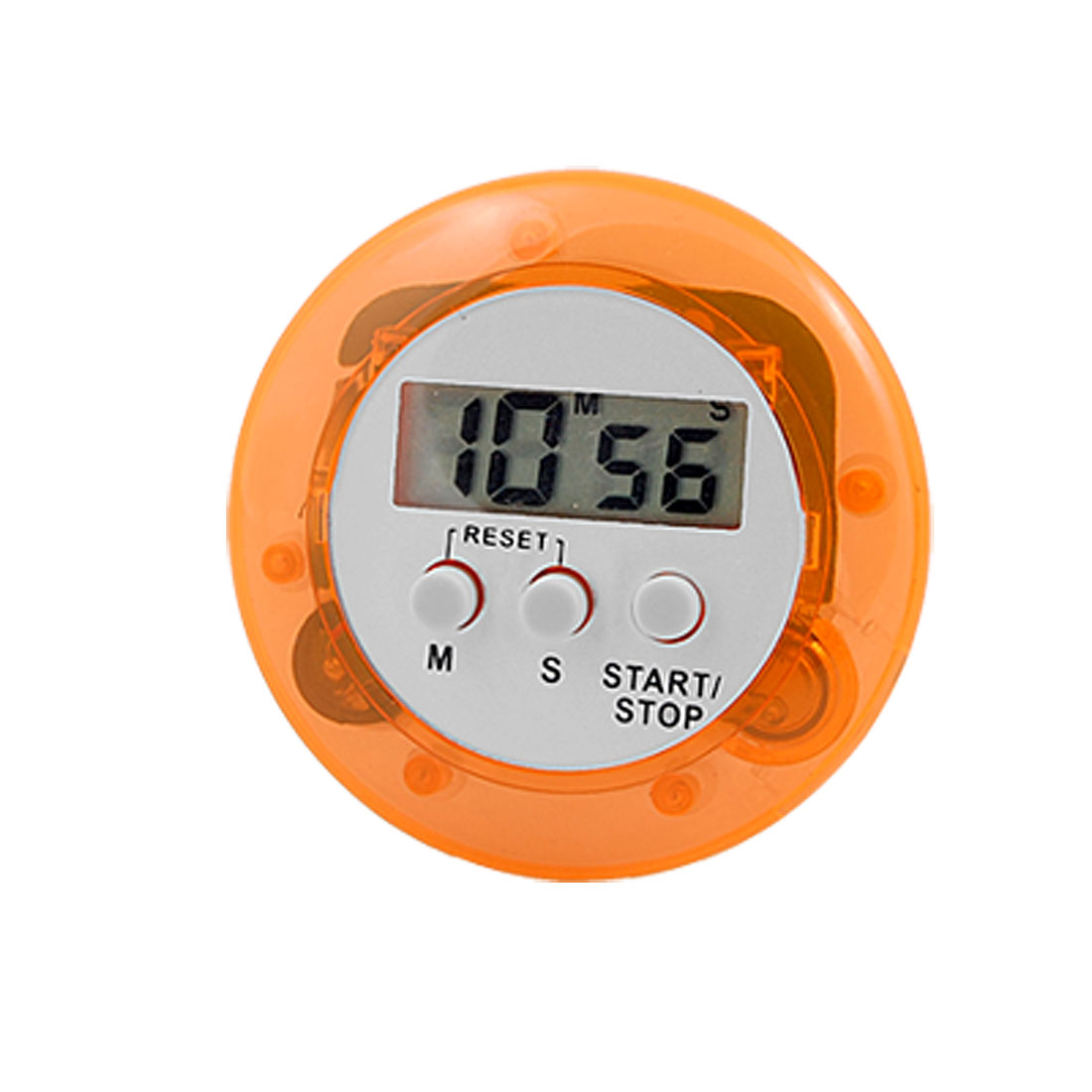 Orange Round LCD Digital Count Down Bracket Timer