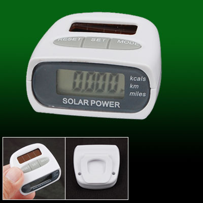 Outdoor Solar LCD Run Step Pedometer Clip On Distance Counter
