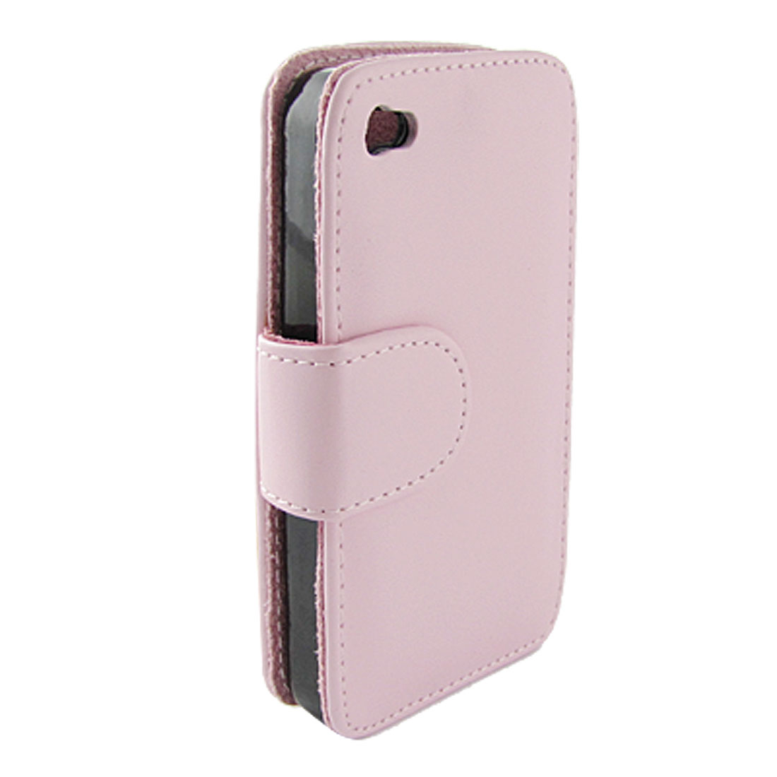 Inner Flannel Topstitching Flip Pink Protector for iPhone 4
