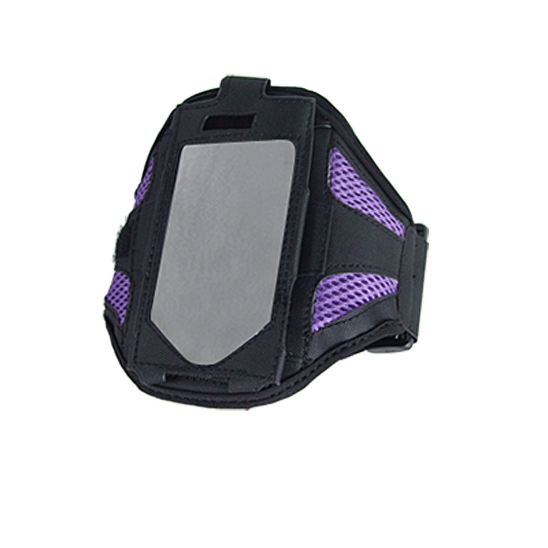 Black Purple Sports Mesh Adjustable Armband Holder for iPhone 4