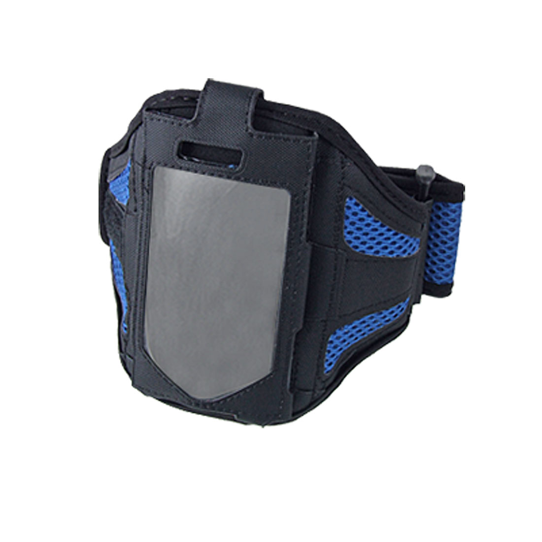 Sports Mesh Adjustable Blue Black Armband Case Holder for Cell Phone