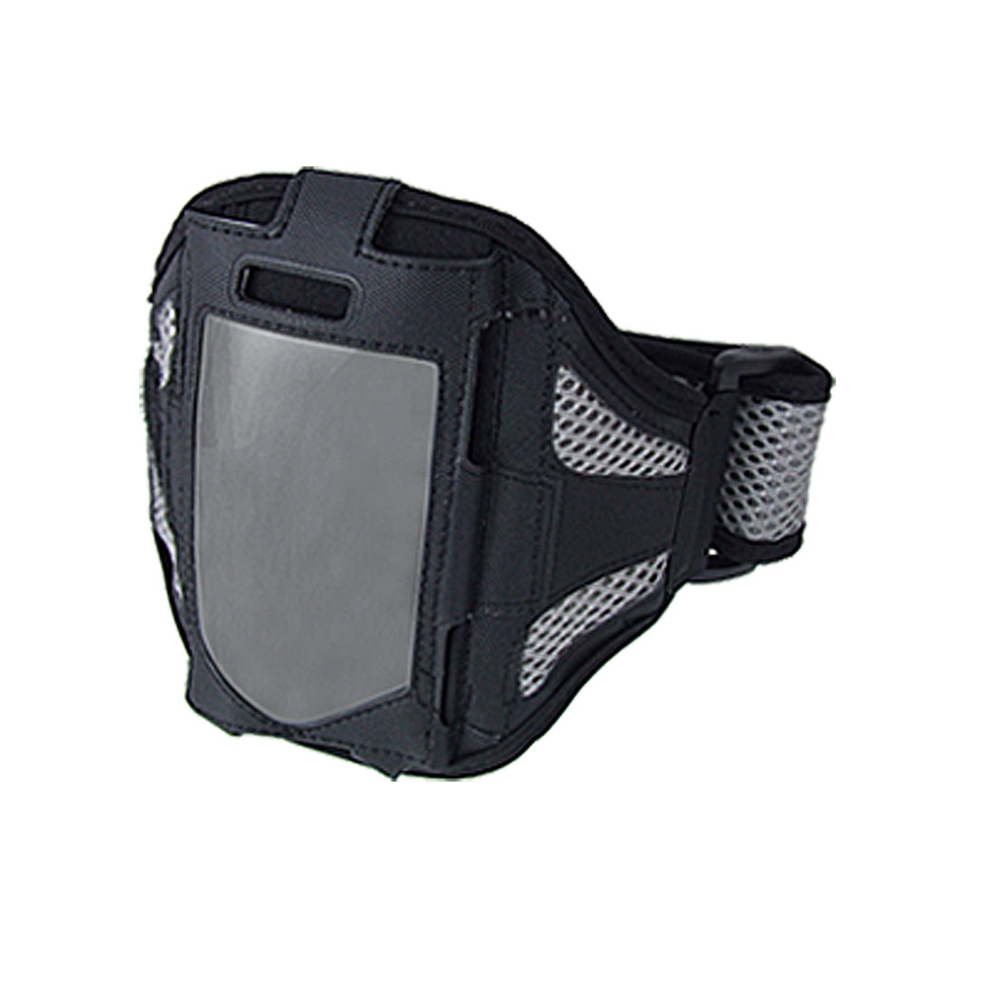 Black Gray Mesh Style Sports Case Holder Armband for iPhone 4 4G