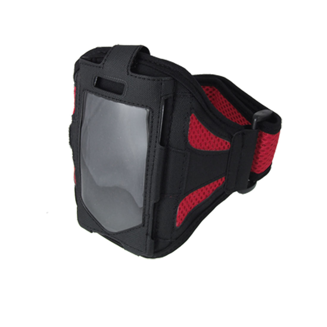 Adjustable Sports Black Red Mesh Holder Armband for Cell Phone