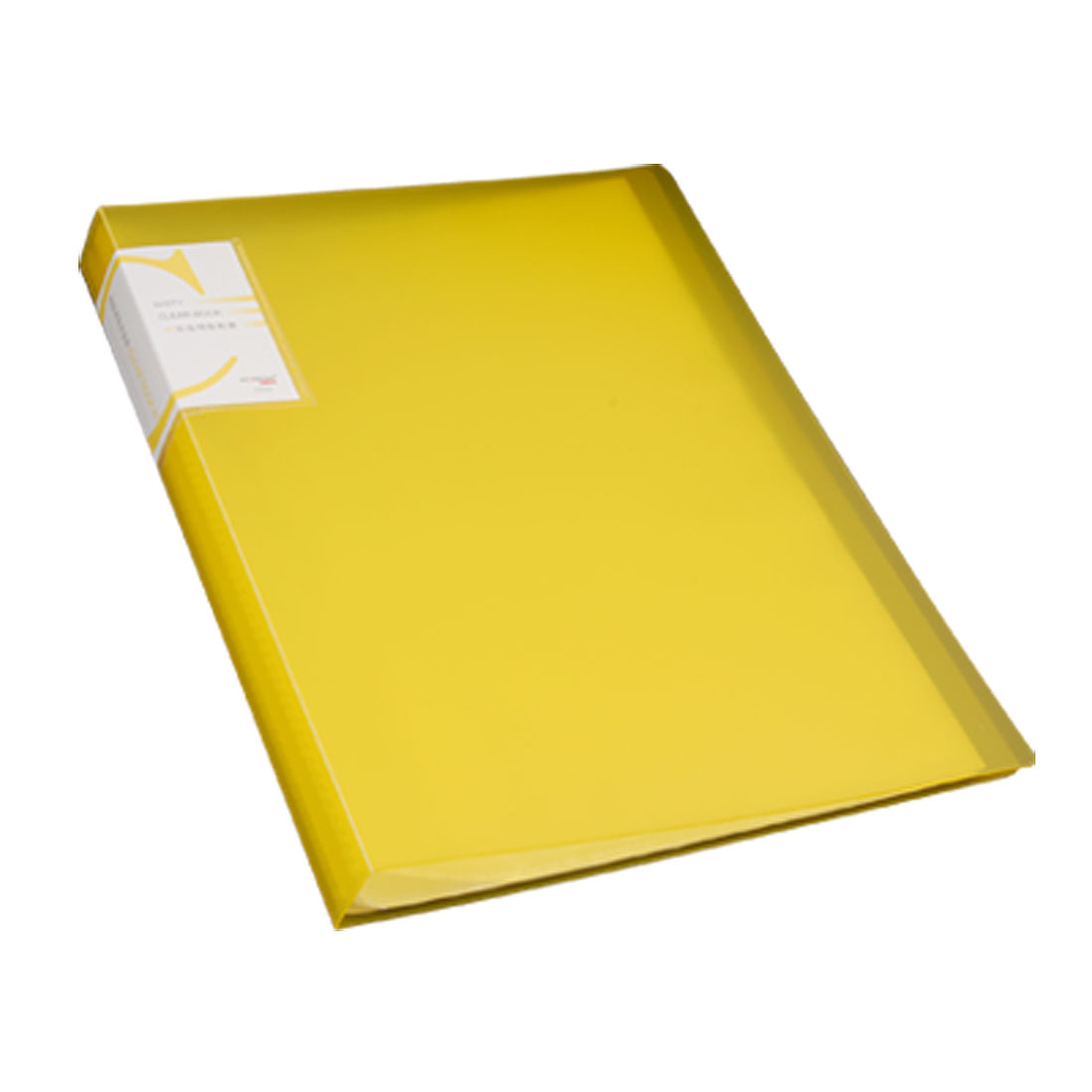 Size A4 40 Pockets Clear Display Book File Folder Yellow