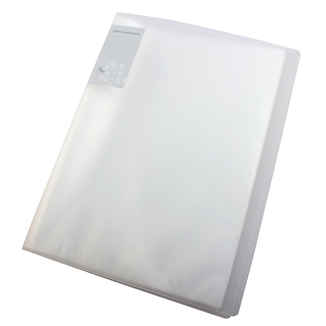 Clear White Size A4 40 Pockets Paper File Display Book Folder