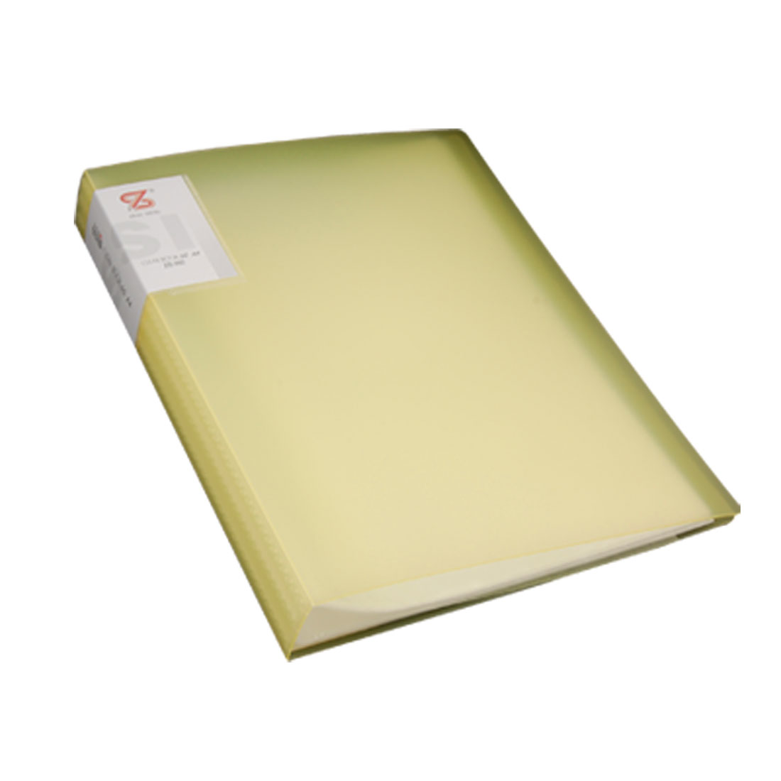 Yellow Polypropylene Size A4 60 Pockets Paper Diaplay Clear Book File