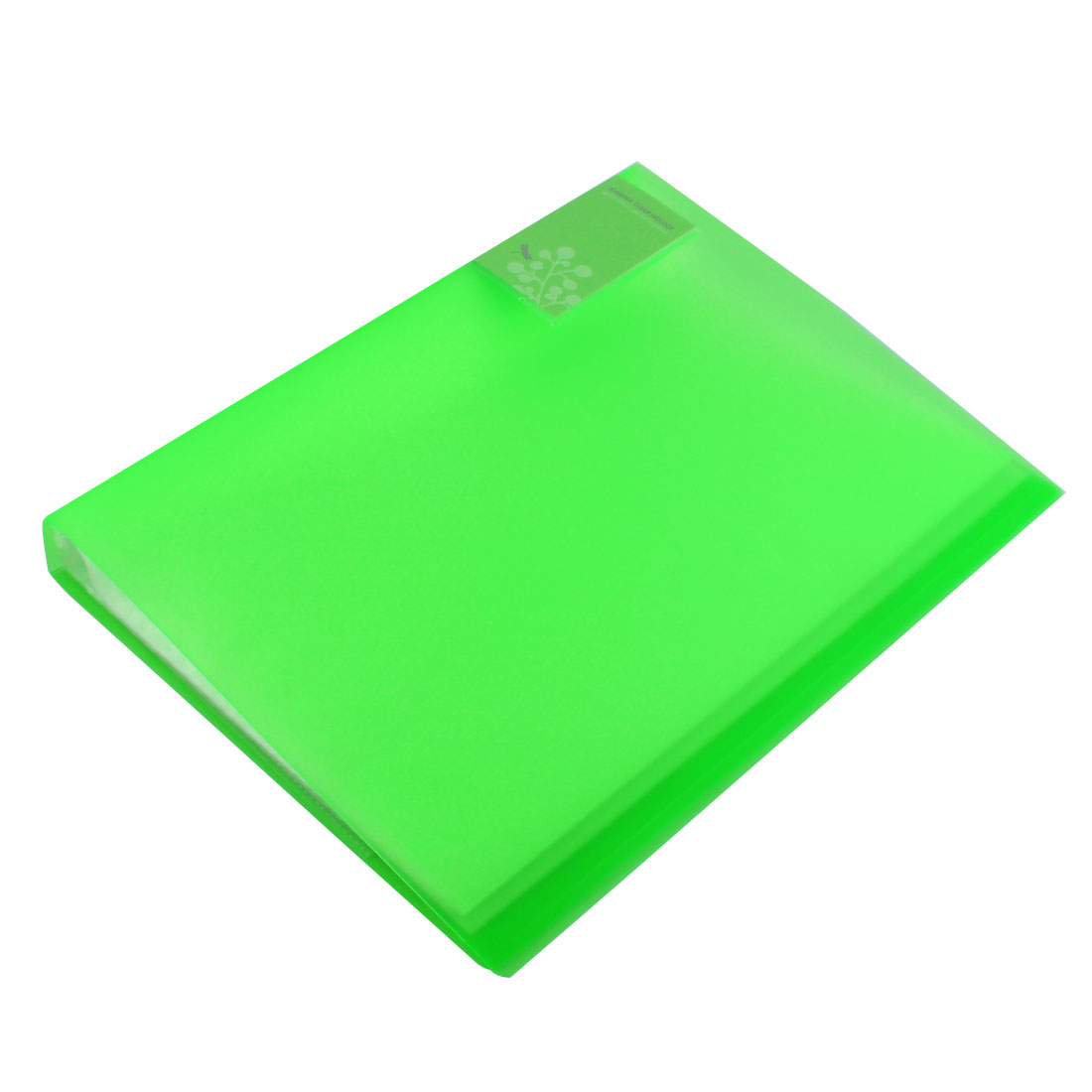 Home Office Polypropylene Pockets Paper Document Diaplay Book File Green Clear