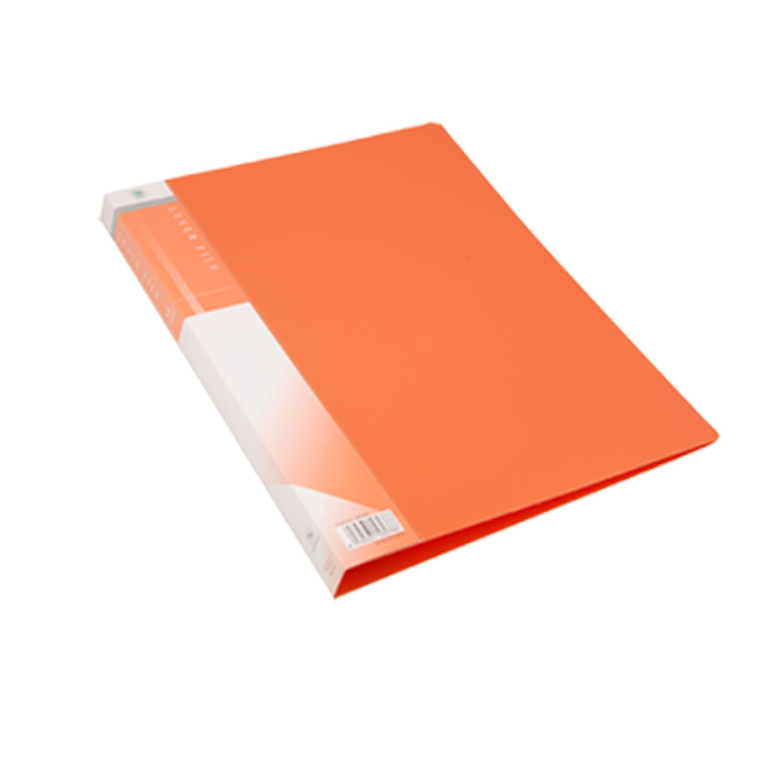 Size A4 Orange Plastic Single Lever Clip File Folder