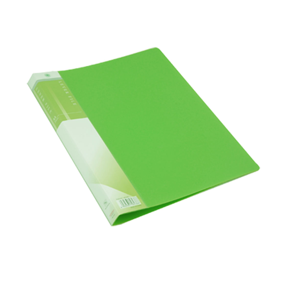 Green Plastic Single Lever Clip Paper File Folder Size A4