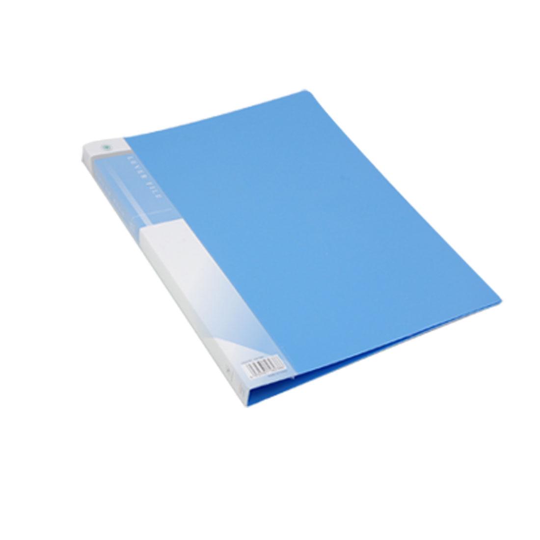 Blue Plastic Single Lever Clip Size A4 Paper File Folder