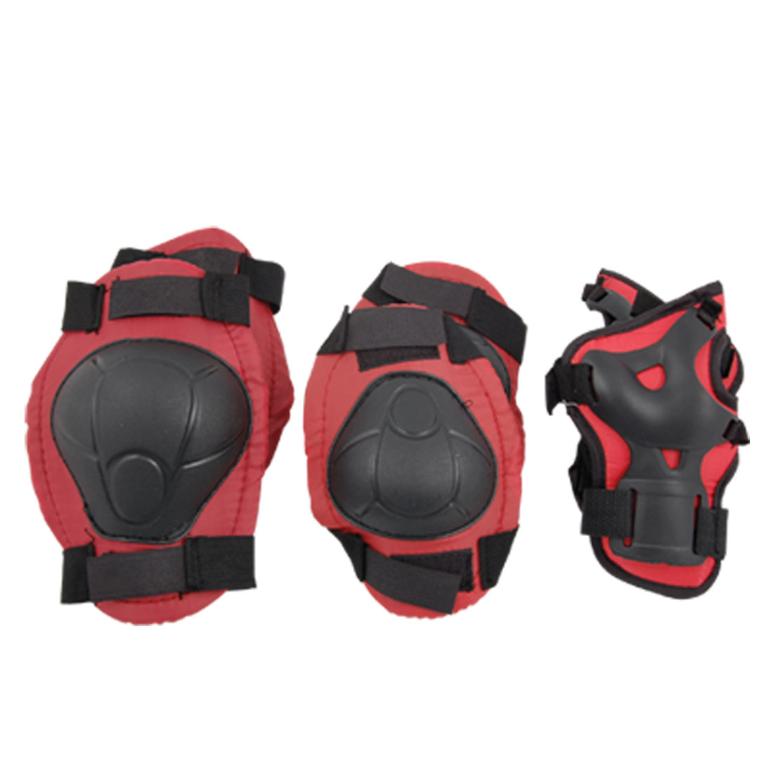 Red Black Skate Sports Knee Elbow Wrist Pad Support for Children