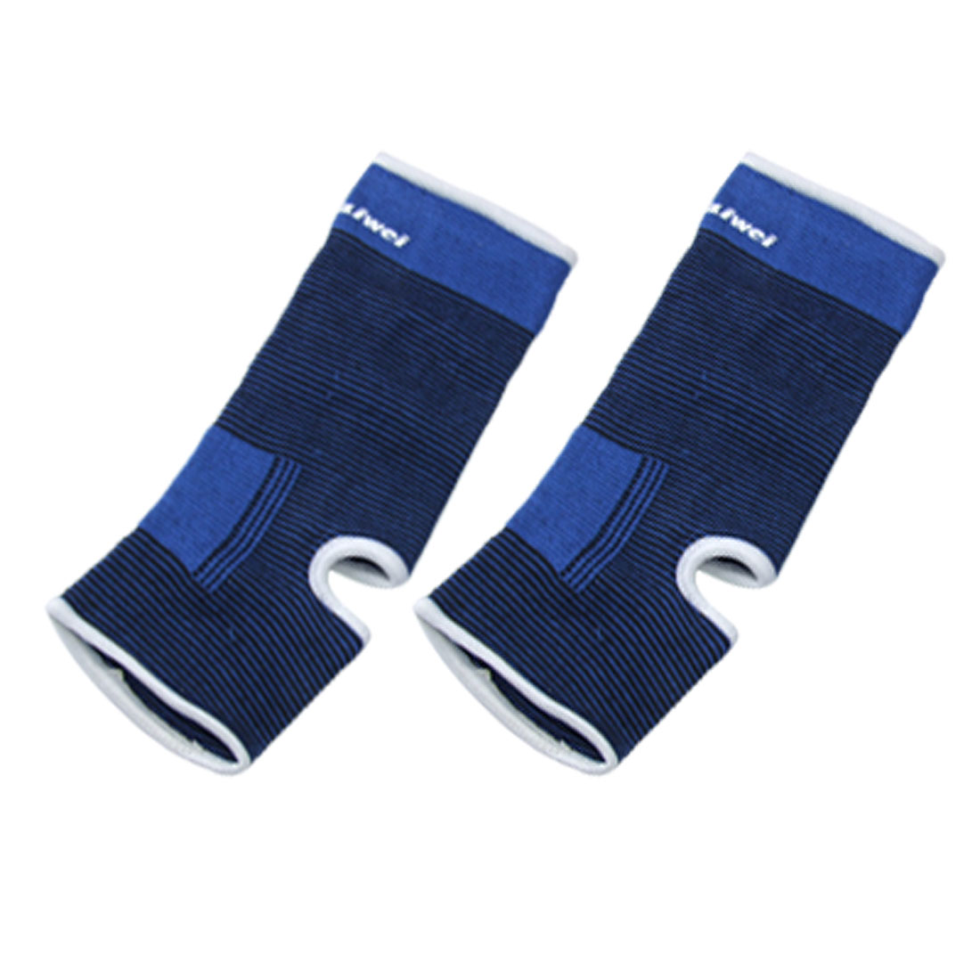 Pair Blue Black Elastic Cotton Ankle Support Protector Size S