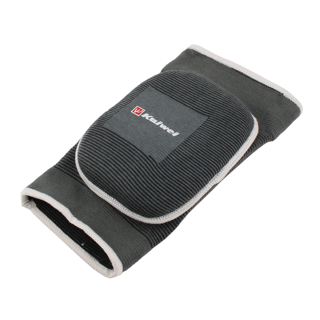 Cotton Blends Knee Sports Elastic Support Protector Pad Gray Black S 9.5 Inch Long