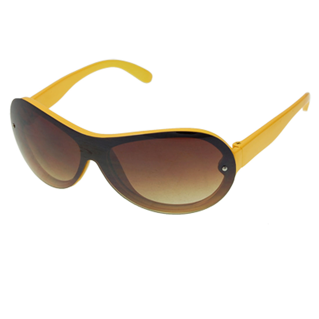 Yellow Plastic Full Frame Uni Lens Sunglasses for Children