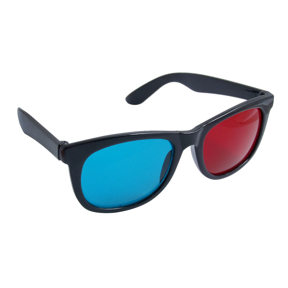 Red Cyan Plastic Frame Anaglyph 3D Moive Games Glasses