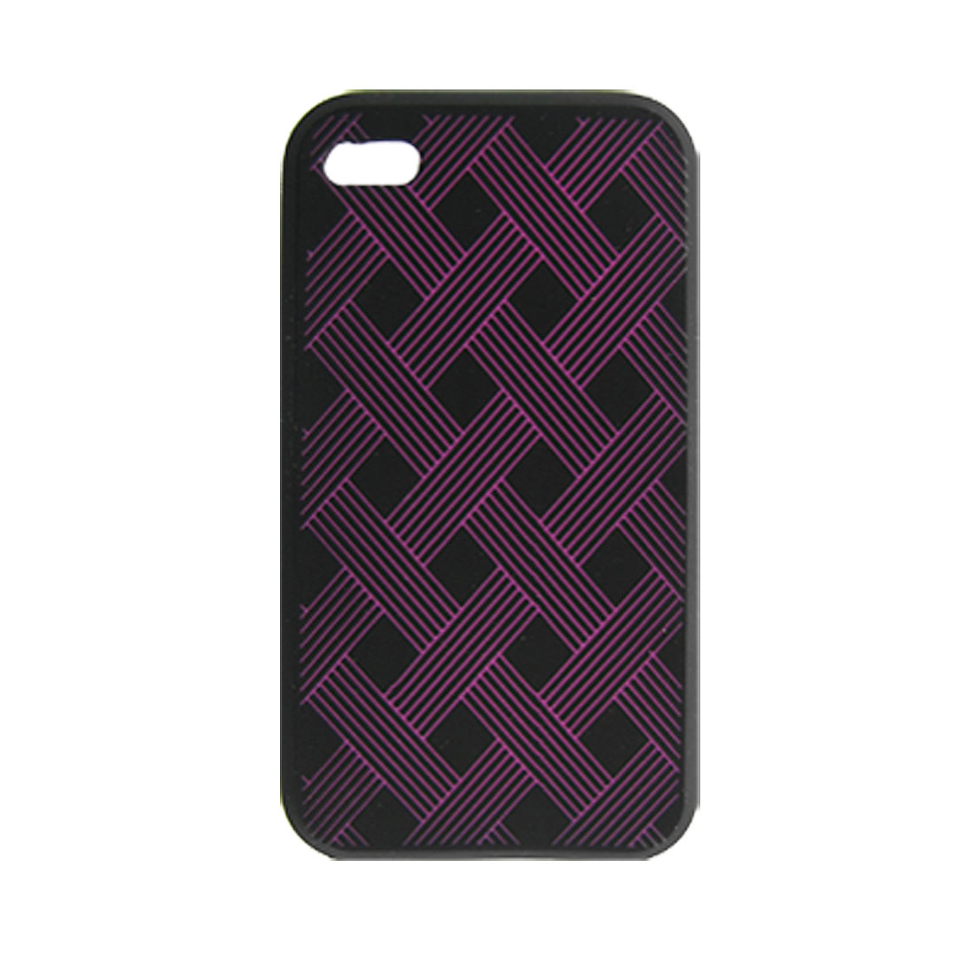 Plait Pattern Silicone Skin Case w Screen Guard for iPhone 4 4G