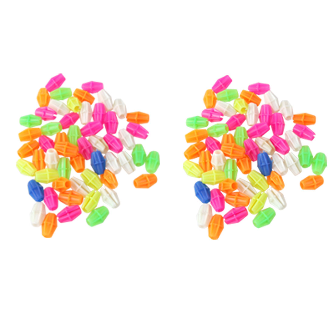 2 Pcs Colorful Plastic Clip Spoke Bead Bicycle Decor