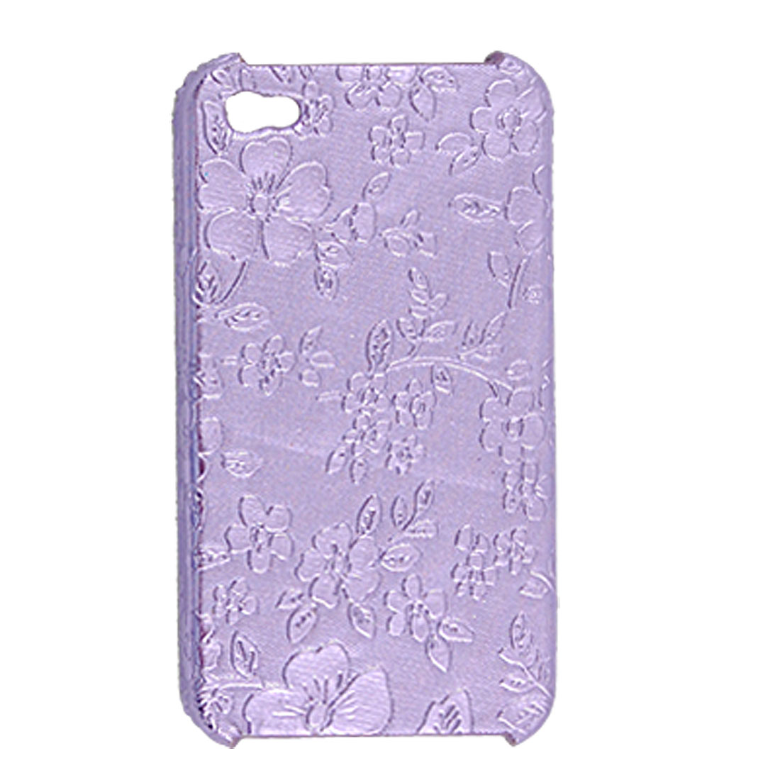 Purple Hard Flower Case Plastic Cover for iPhone 4 4G