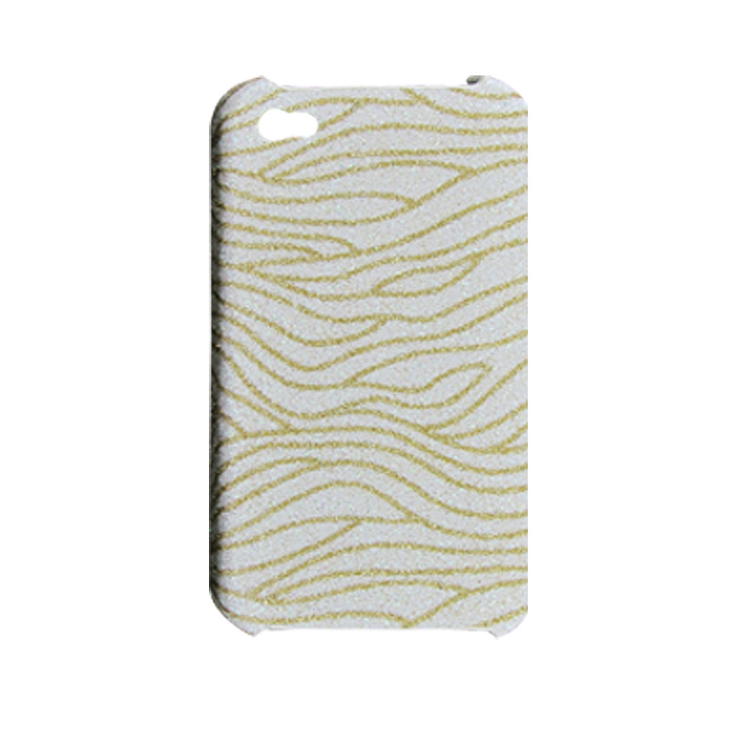 Glittery Zebra Print Skidproof Hard Back Cover for iPhone 4