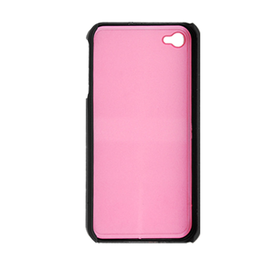 Black Pink Hard 2-Piece Cover Back Case for iPhone 4 4G