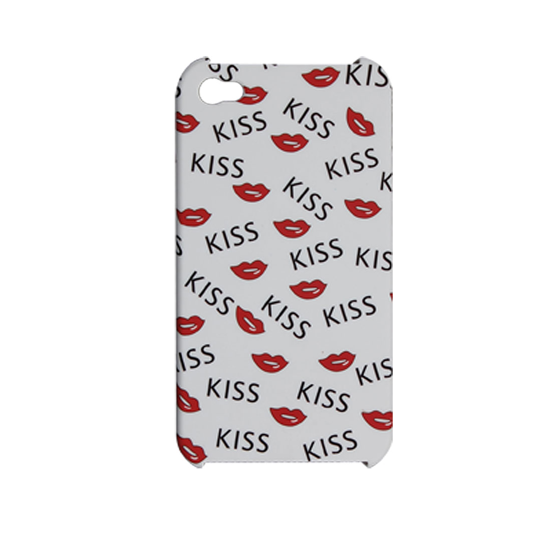 KISS Lip Print Rubberized Plastic Hard Case for iPhone 4 4G