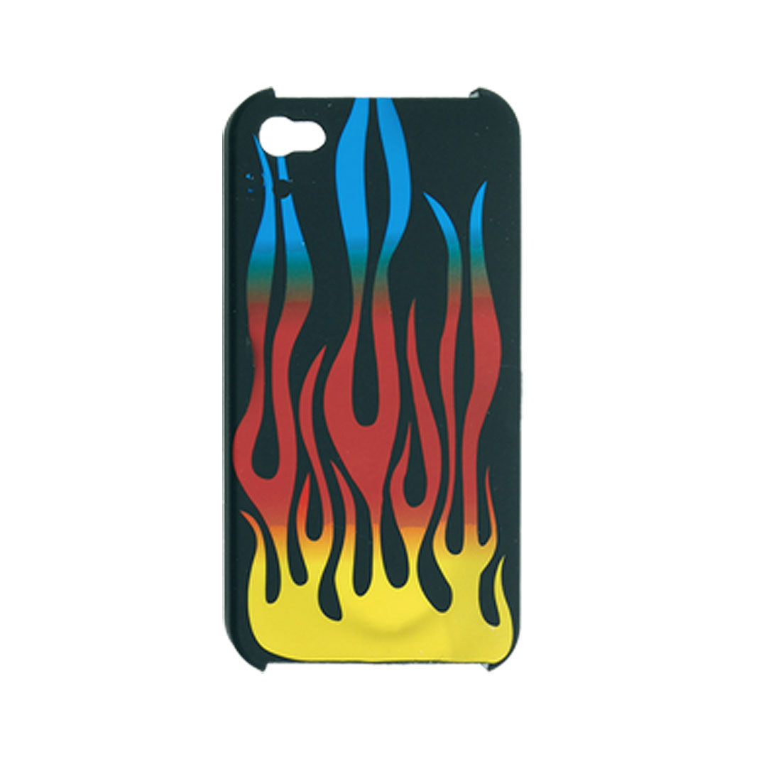 Rubberized Plastic Fire Design Hard Case for iPhone 4 4G