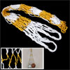 White Yellow Nylon Carry Net Bag for Ball Soccer Basketball