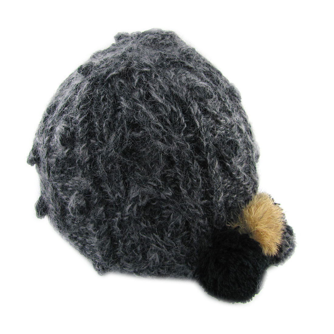 Black Gray Assorted Color Knited Beanie Hat for Ladies