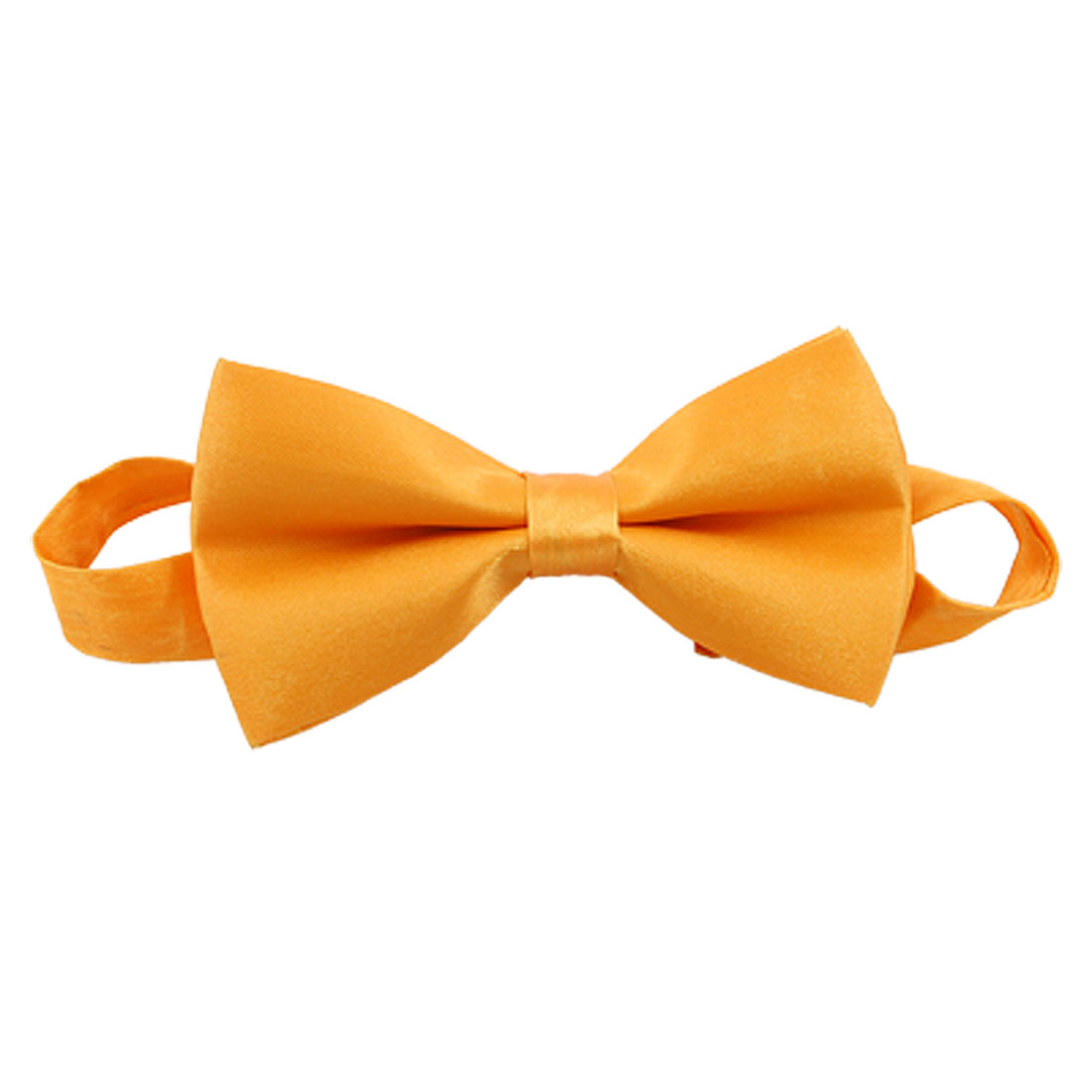 Mens Orange Pre-tied Polyester Bow Tie with Adjustable Neckband