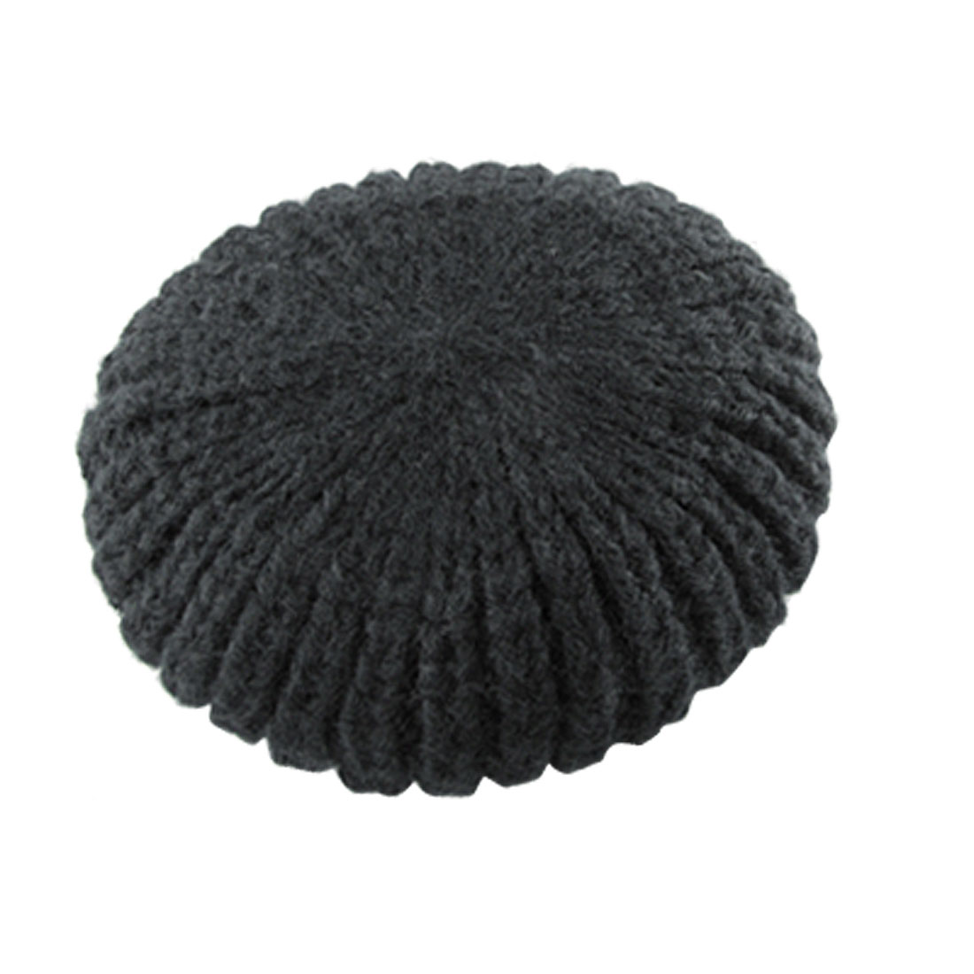 Ladies Warm Crochet Beanie Hat Knitting Black Cap