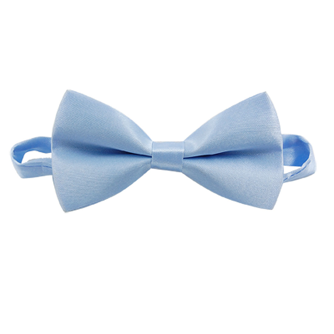 Men Boys Light Blue Polyester Tuxedo Pre-tied Bow Tie Bowtie