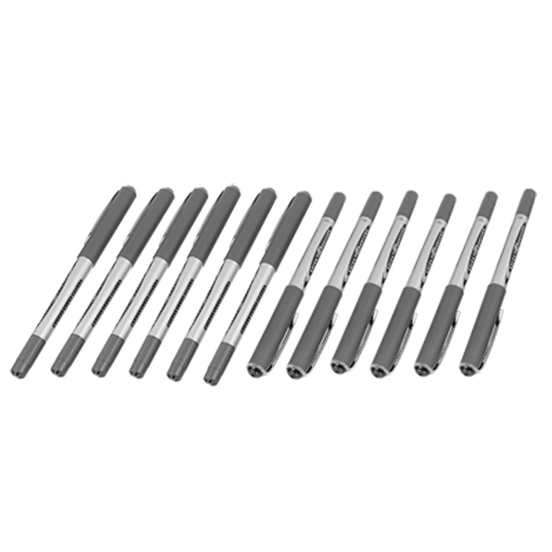 12 pcs Gray Shell Black Ink Writing 0.5mm Gel Pen