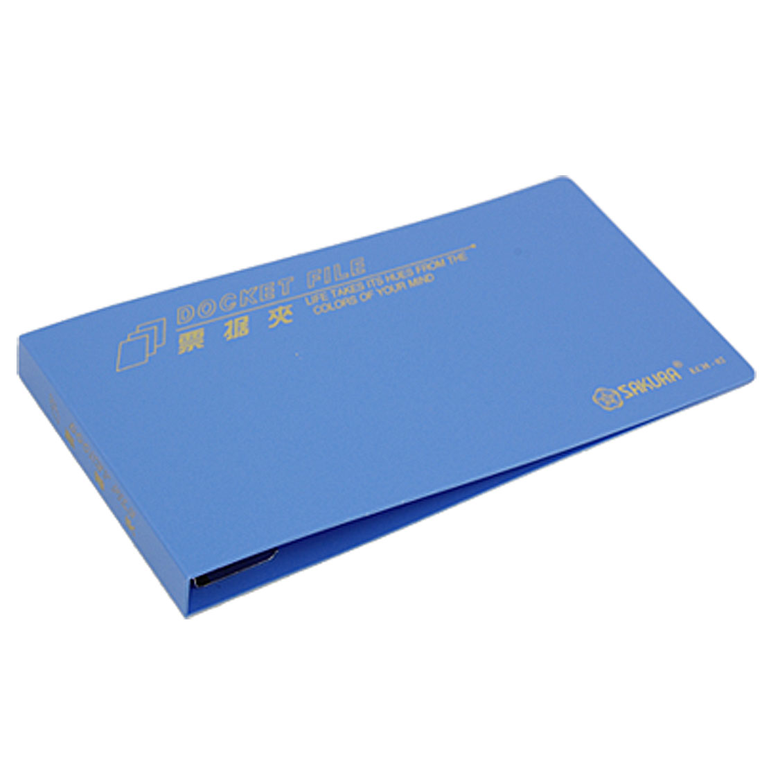 Small Rectangle Blue Cover Bill Clip Folder Holder