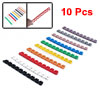 10 Pcs Multicolor Plastic Cable Markers Wire Cord Management Bar