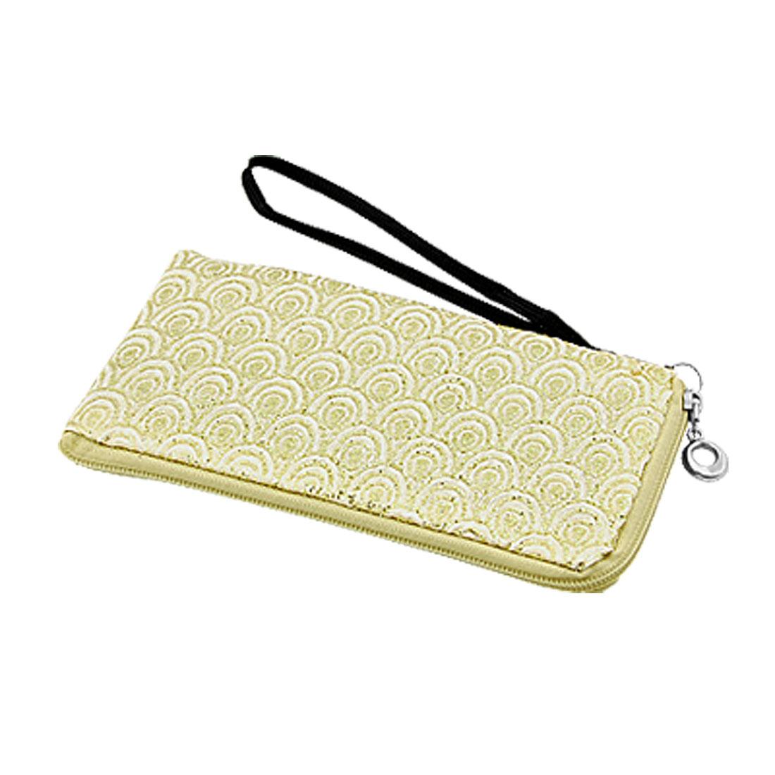 Glittery Nylon Bag Zipper Closure Pouch Wallet for MP3 MP4