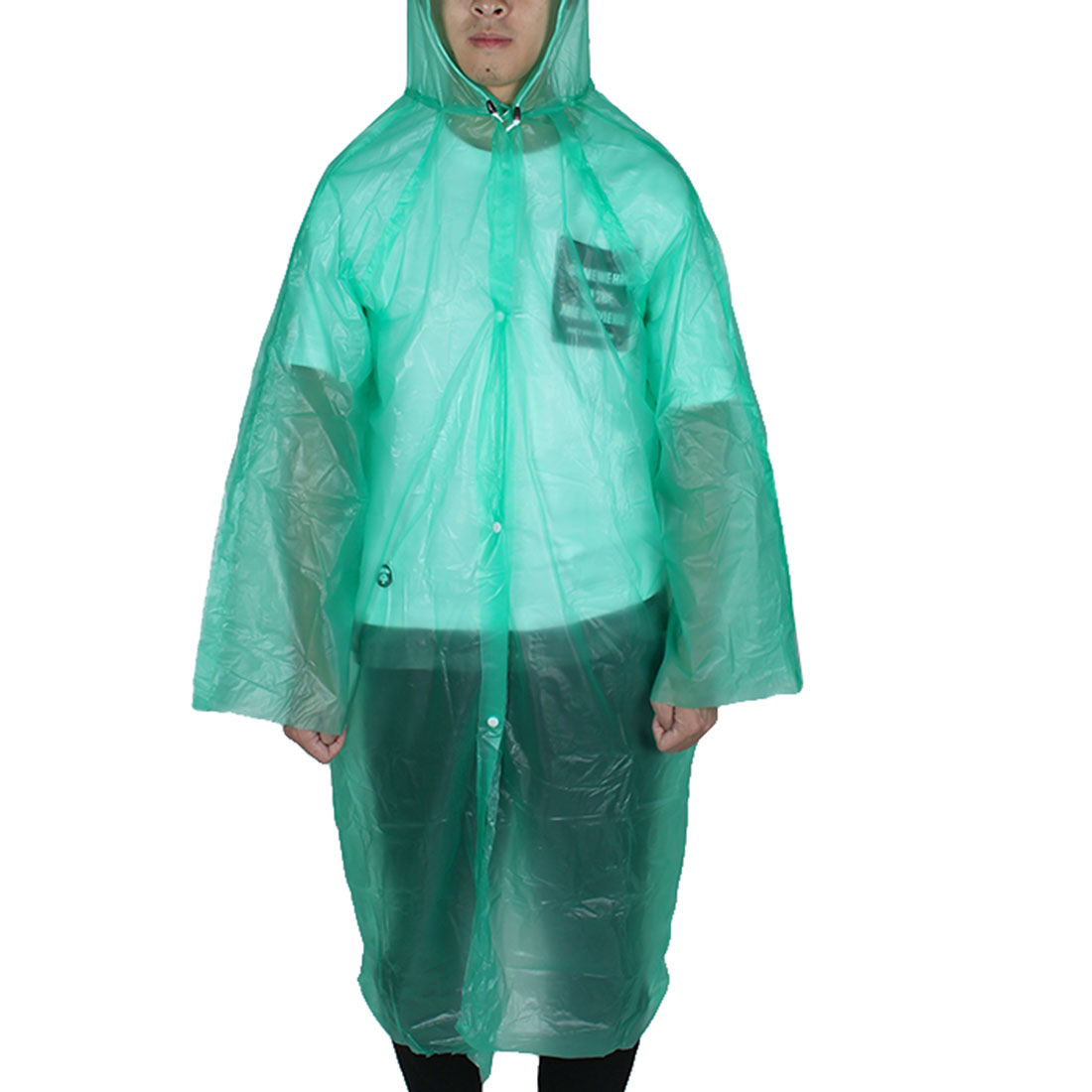 Green Disposable Emergency Plastic Raincoat Rain Coat Adult