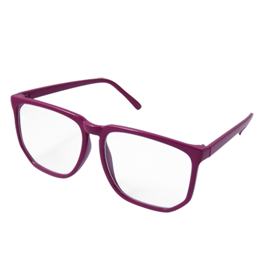 Oversize Clear Lens Fuchsia Plastic Frame Ladies Glasses