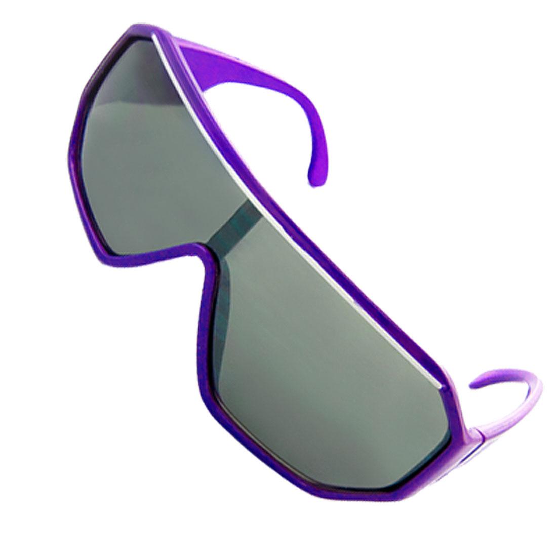 Purple Frame Textured Arm Clear Black Uni Lens Children Sunglasses