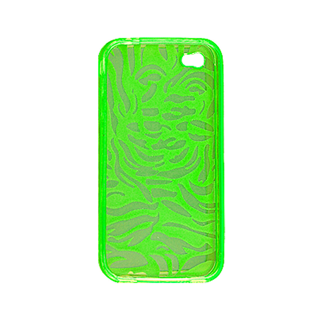 Green Soft Plastic Nonslip Inner Case for iPhone 4 4G