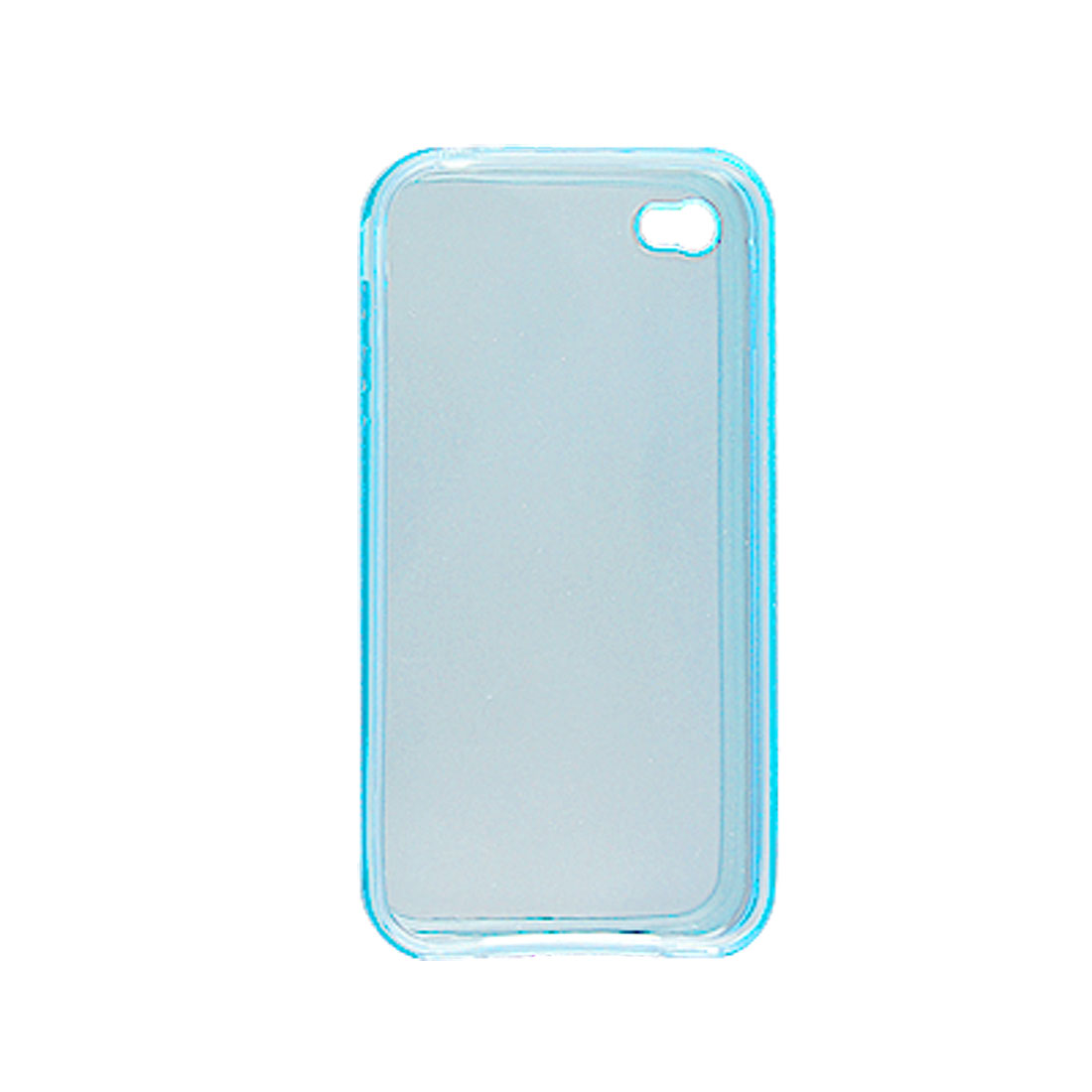 Clear Blue Cover + Screen Protector for Apple iPhone 4