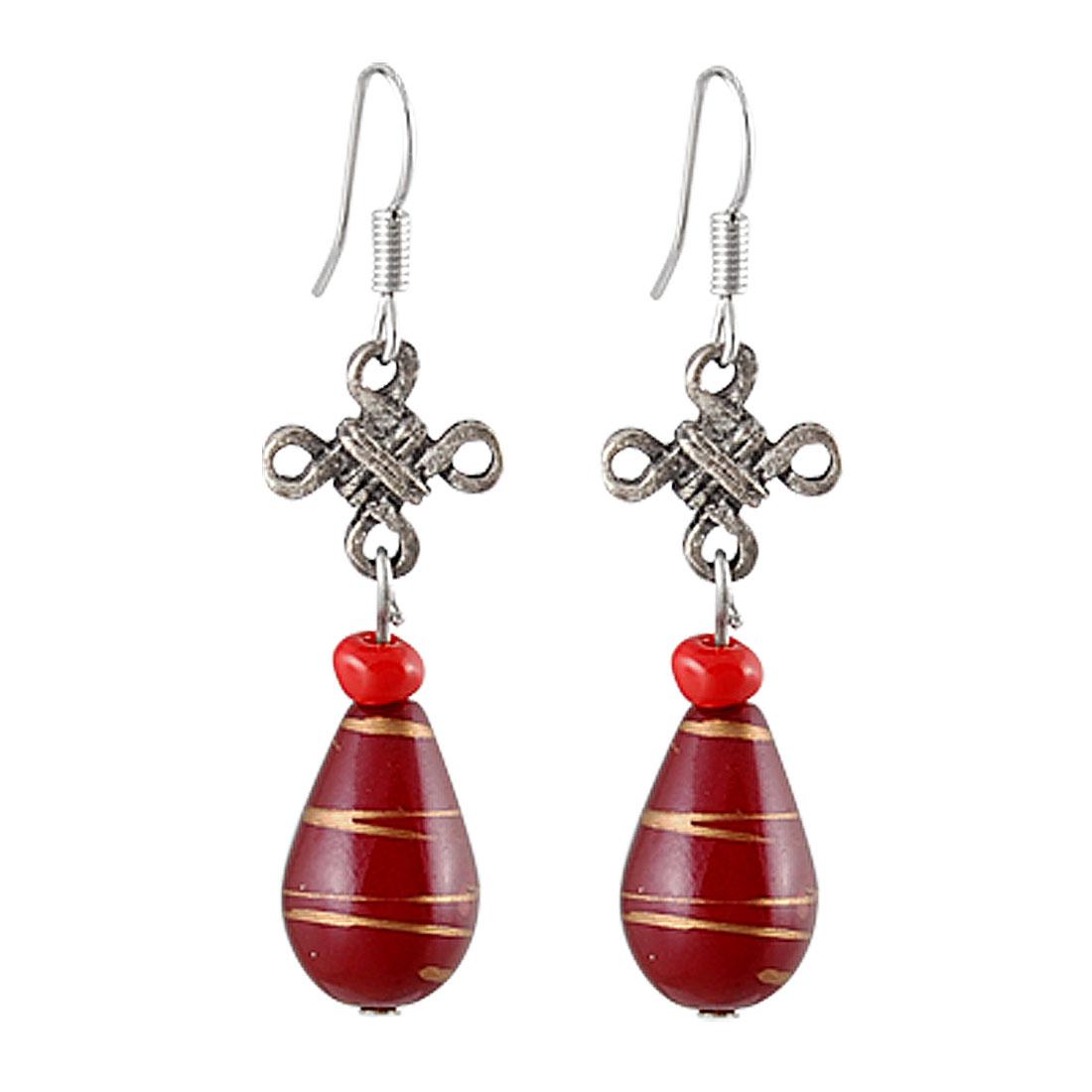 Fashion Accessories Pair Plastic Teardrop Dangle Hook Earrings