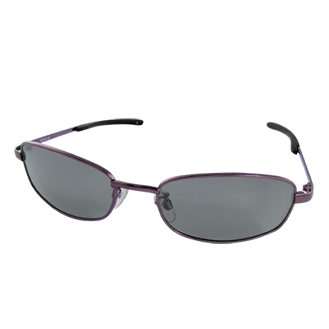 Dark Purple Slim Metal Frame Dark Polarized Sunglasses