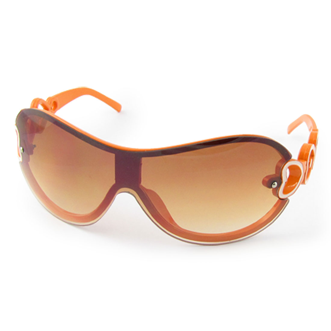 Tinted Lens Heart Style Arms Orange Sunglasses for Kids