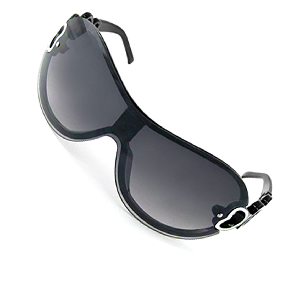 Kids Linked Oval Dark Lens Black Frame Sport Sunglasses