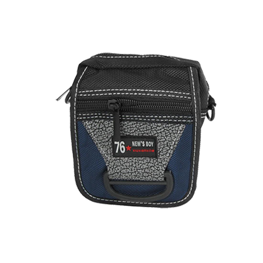 Mini Sports Black Zipper Closure Camera Waist Shoulder Bag